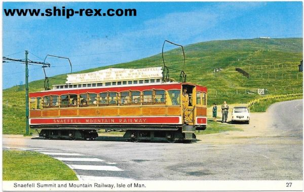 Snaefell Summit and Mountain Railway - postcard